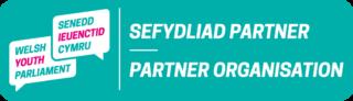 Logo Sefydliad Partner Senedd Ieuenctid Cymru
